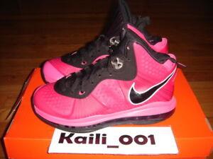 6dd082feec7 Nike Air Zoom Lebron 8 V 2 (GS) Pink Solar Red B