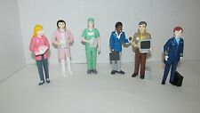 Dollhouse figures career dolls lot doctor pilot teacher computer tech nurse +
