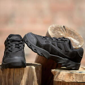 ffdc5e4565e Details about Military Tactical Desert Combat Ankle Mens Army Boots Outdoor  Hiking Shoes