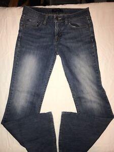 Levi-039-s-518-Womens-Super-Low-Boot-Cut-Light-Wash-Jeans-Size-7-S-C-30-034-W-x-29-L