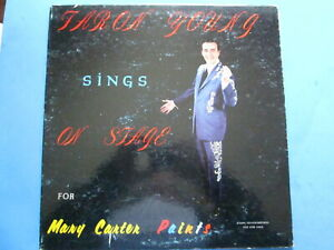 Faron Young Sings On Stage For Mary Carter Paint Co  lp vinyl record album