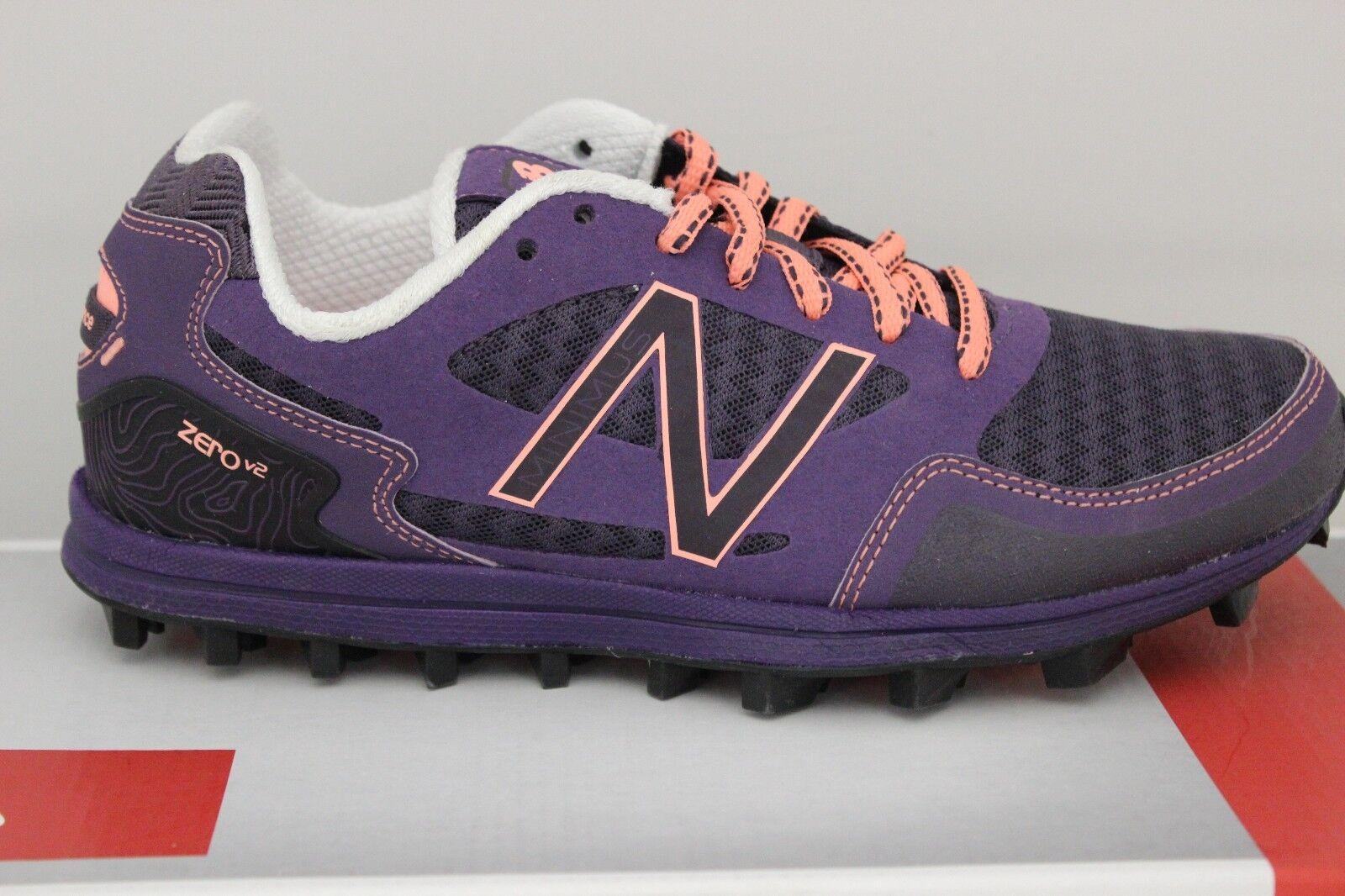 Women's New Balance Zero V2 Trail Running Purple Black Peach WT00PP2