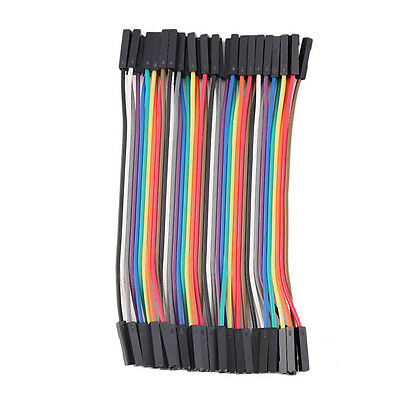 40pcs/Row 10cm 2.54mm Female to Female Wire Jumper Cable 1P-1P For Arduino