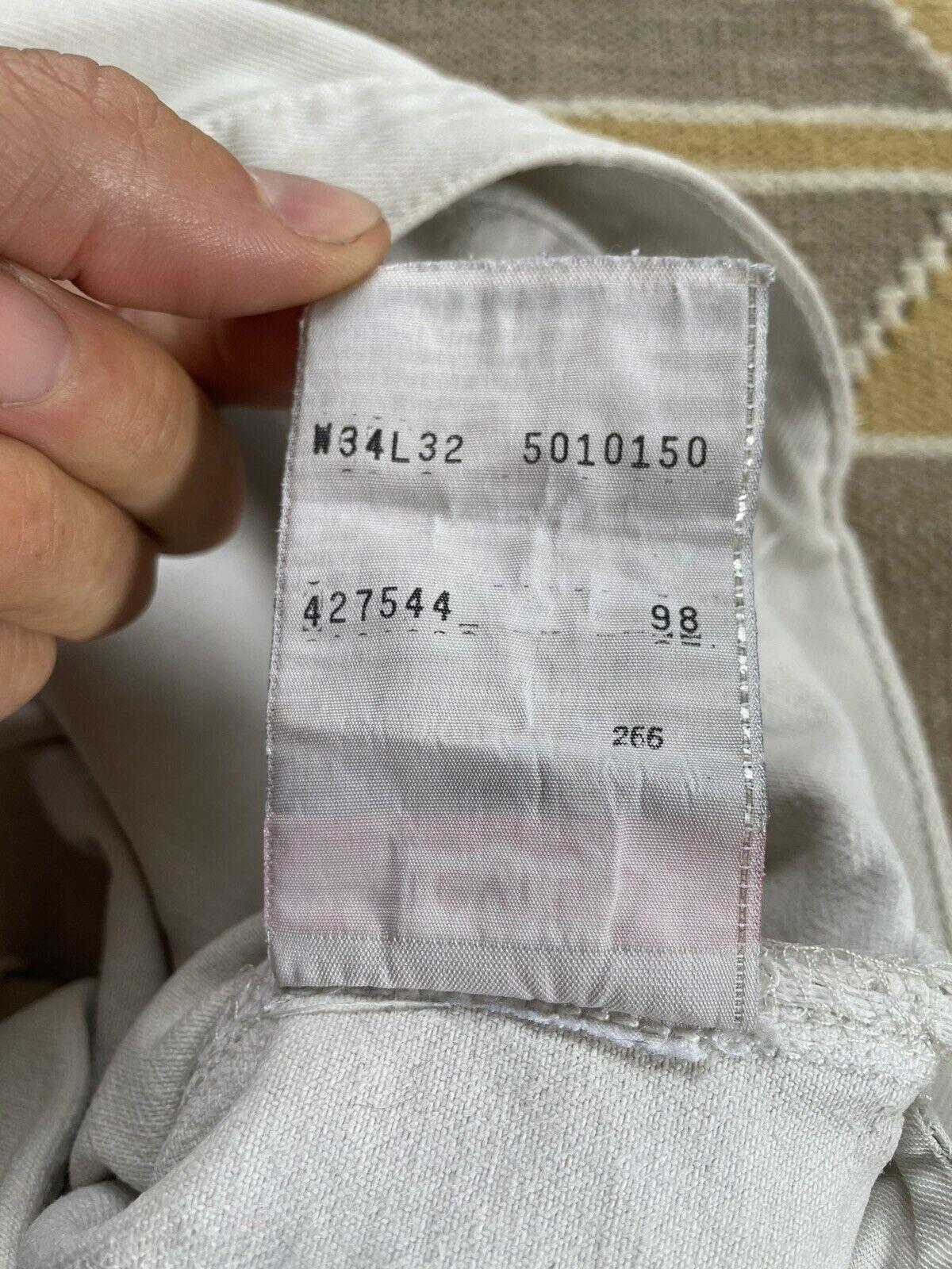 Vintage Levi's 501 Custom Distressed White Denim … - image 12
