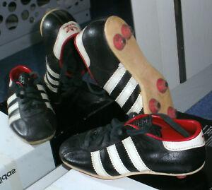Details zu Original Adidas Fußballschuhe Stollen Leder Beckenbauer Gr. 9,5