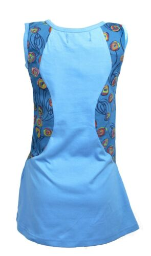 TATTOPANI GIRL/'S SUMMER SLEEVELESS DRESS WITH FLORAL PATTERN AND PATCH