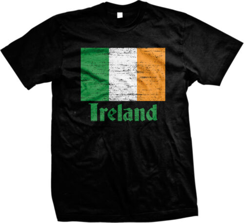 Ireland Flag Irish Pride Eire Green Clover Shamrock Lucky Charm Mens T-shirt