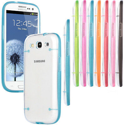 Ultra-Thin Clear Soft Gel Hard Case Cover For Samsung Galaxy S3 III i9300 S4 S5