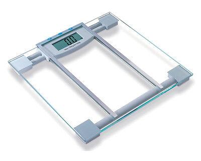 GLASS ELECTRONIC DIGITAL LCD BATHROOM SCALE BODY FAT HYDRATION BMI ANALYSER