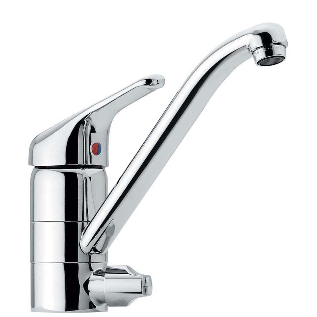 Einhebel Spültisch Küchenarmatur Wasserhahn mit Geräteanschluss - MADE IN ITALY