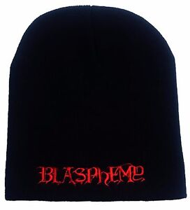 Blasphemy Logo Beanie Conqueror  Black Metal Sarcofago Bathory Venom Black Winds