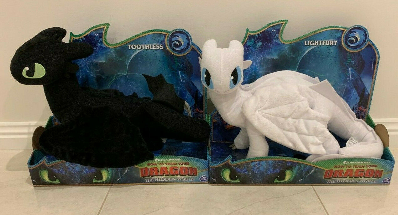 How to Train Your Dragon TOOTHLESS + LIGHT FURY 2 PLUSH TOY FIGURE NEW sale