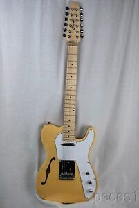 PICK-IT-NEW-12-STRING-SEMI-HOLLOW-TELE-ELECTRIC-GUITAR-BLUE-NATURAL-WHITE