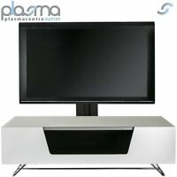Alphason Chromium White Cantilever Tv Stand For Up To 50 Tvs