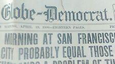 1906 St Louis News Paper  San Francisco Earthquake