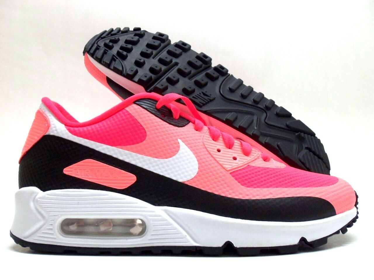 NIKE AIR MAX 90 HYPERFUSE ID INFRARED/WHITE-BLACK SIZE WOMEN'S 8.5 [653536-984]