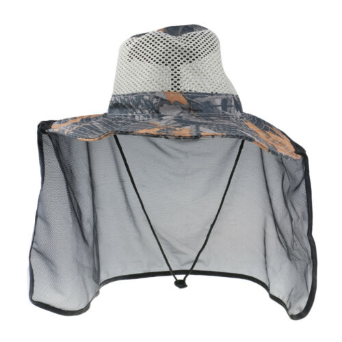 Neck Face Protector Cap Sun Protection Fishing Hat with Wide Brim and Shawl