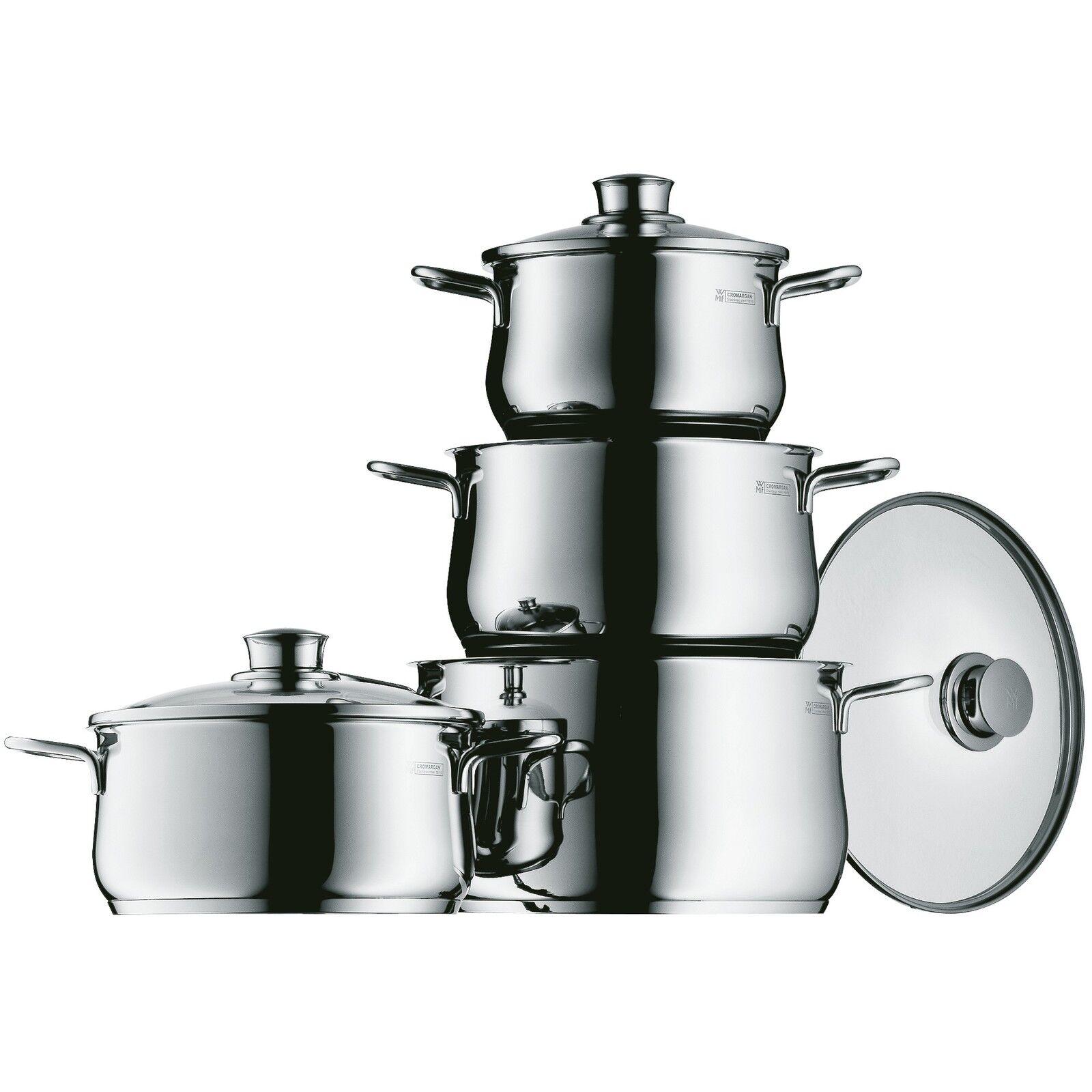 WMF olla set 4 piezas Diadem plus inducción fogón tapa cocina 0730046040