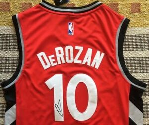 timeless design b17b8 d5d7b Details about DeMar DeRozan Signed Autograph Toronto Raptors Jersey NBA  Drake Proof Spurs