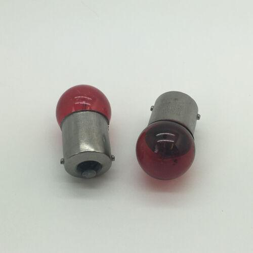 2 x 207R Red R5W BA15S Rear Tail Light Car Bulb 207 12v 5w