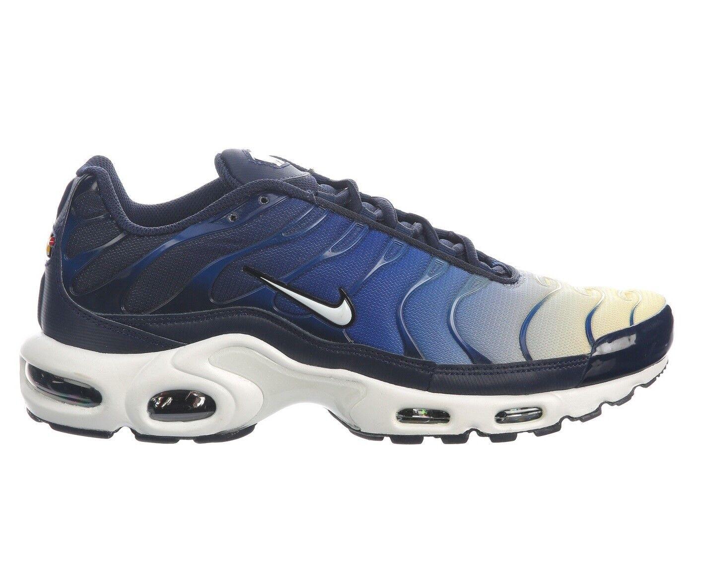 Nike air max max max plus farbverlauf mens 852630-407 blau gelb laufschuhe größe 7 a8a1a8