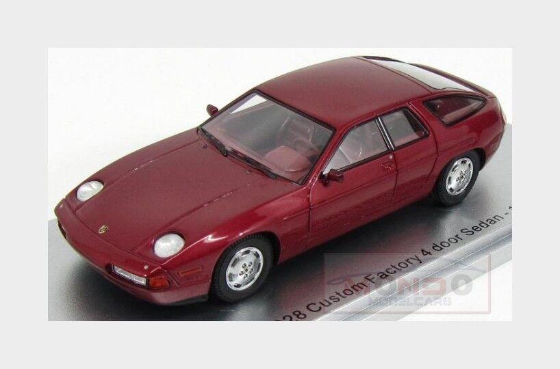 Porsche 928 Custom Factory Model 4-Door Sedan 1986 rosso Met. Kess Model Factory 1 43 KE43024010 65b06d