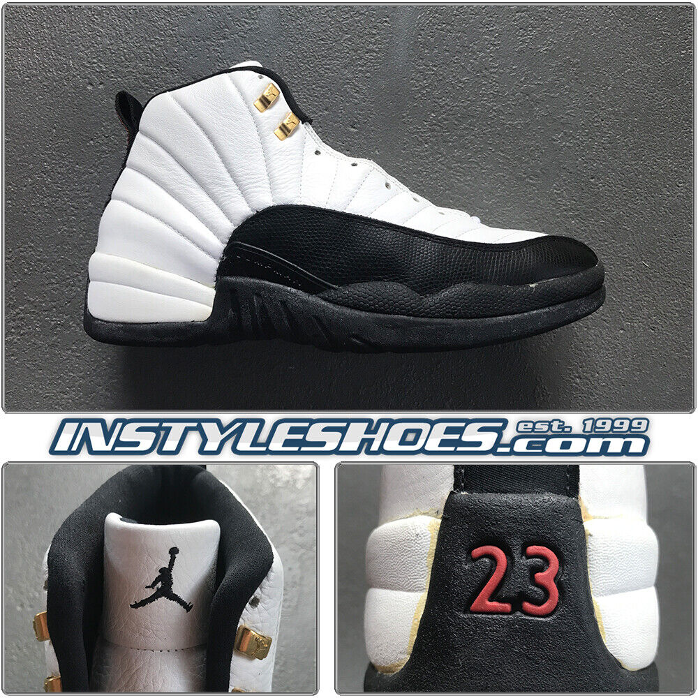 Nike Air Jordan Xii 12 S Sz 4c Taxi 1996 Original Og Vtg Black Red