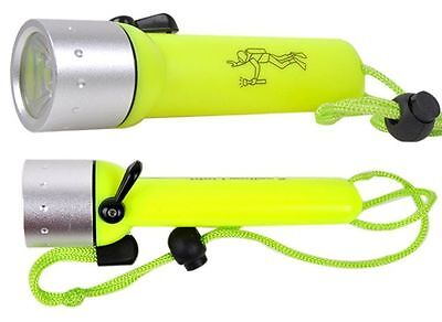 Shallow Light Cree LED 260 Lumens Diving Flashlight Torch Waterproof LED Torch