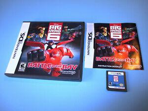 Disney-Big-Hero-6-Battle-in-The-Bay-Nintendo-DS-Lite-DSi-XL-3DS-w-Case-amp-Manual