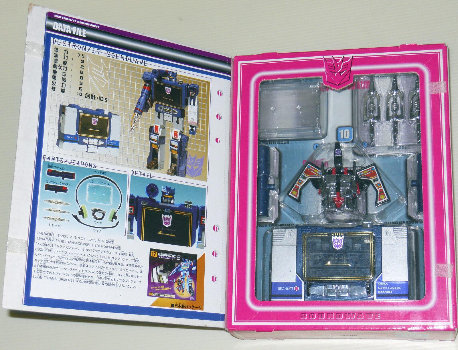 Transformers Takara G1 Soundwave Figure Reissue 10 New Complete Laserbeak Japan