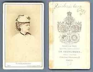 Reichenberg-actrice-CDV-Vintage-albumen-Carte-de-Visite-Tirage-albumine