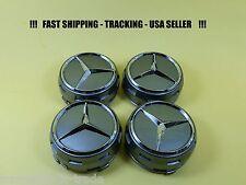 Raised Grey Center Cap For Mercedes Benz ML S  E C GL GLK  Wheel Hub Caps 75