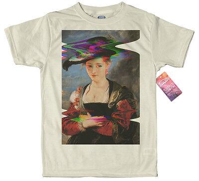 Portrait of Susanna Lunden by Peter Paul Rubens T shirt Glitch Design