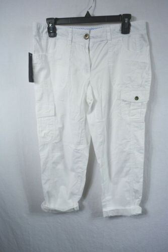 Tommy Hilfiger New Women/'s 100/% Cotton Cropped Cargo Pants Variety Sizes Colors