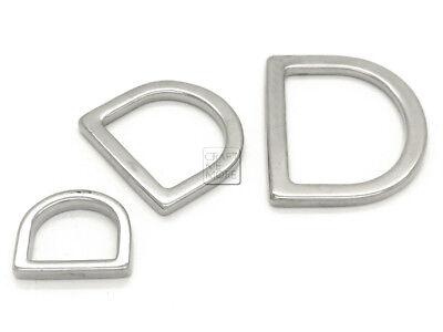 CRAFTMEmore D Rings Purse Loop Flat Metal D-ring Heavy Duty Findings fit 5//8 Inch Strap Webbing 10 pcs