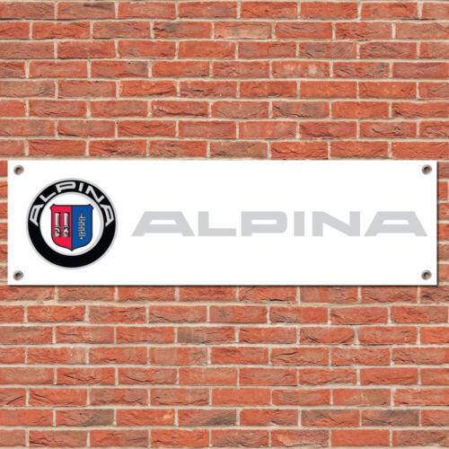 Alpina BMW Motorsport Track Car Racing Sign Garage Workshop Banner Display