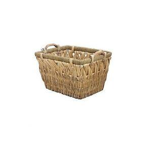 Grand panier en osier tissé Willow stockage transporter poignée en bois jouet Log Bois # 3006-afficher le titre d`origine O0gHIiRw-07212629-435255698
