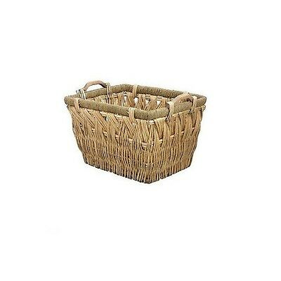 Large Wicker Woven Willow Basket Storage Carry Wooden Handle Log Toy Wood #3006 Om Gezondheid Effectief Te Stimuleren