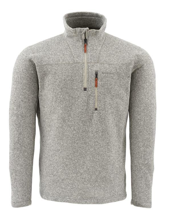 Simms RIVERSHED Sweater 1/4 Zip  Cork NEW  Größe Small  CLOSEOUT