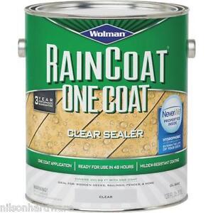 1 Gal Clear Wolman Raincoat Oil Based Water Repellent Deck Wood Sealer 12386 Ebay