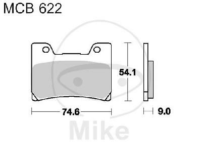 Scheibenbremse LUCAS MCB521 Bremsbelagsatz