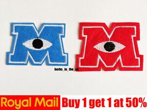 Character M Disney Monsters Inc University Patch Badge Monsters University