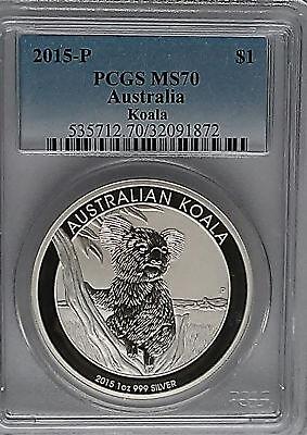 2015-P Australia Koala PCGS MS70