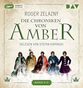 ROGER-ZELAZNY-DIE-CHRONIKEN-VON-AMBER-BAND-1-5-5-MP3-CD-NEW