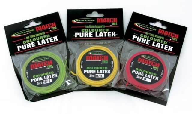 Various colours and sizes Maver Coloured Pure Latex Pole Elastic J593