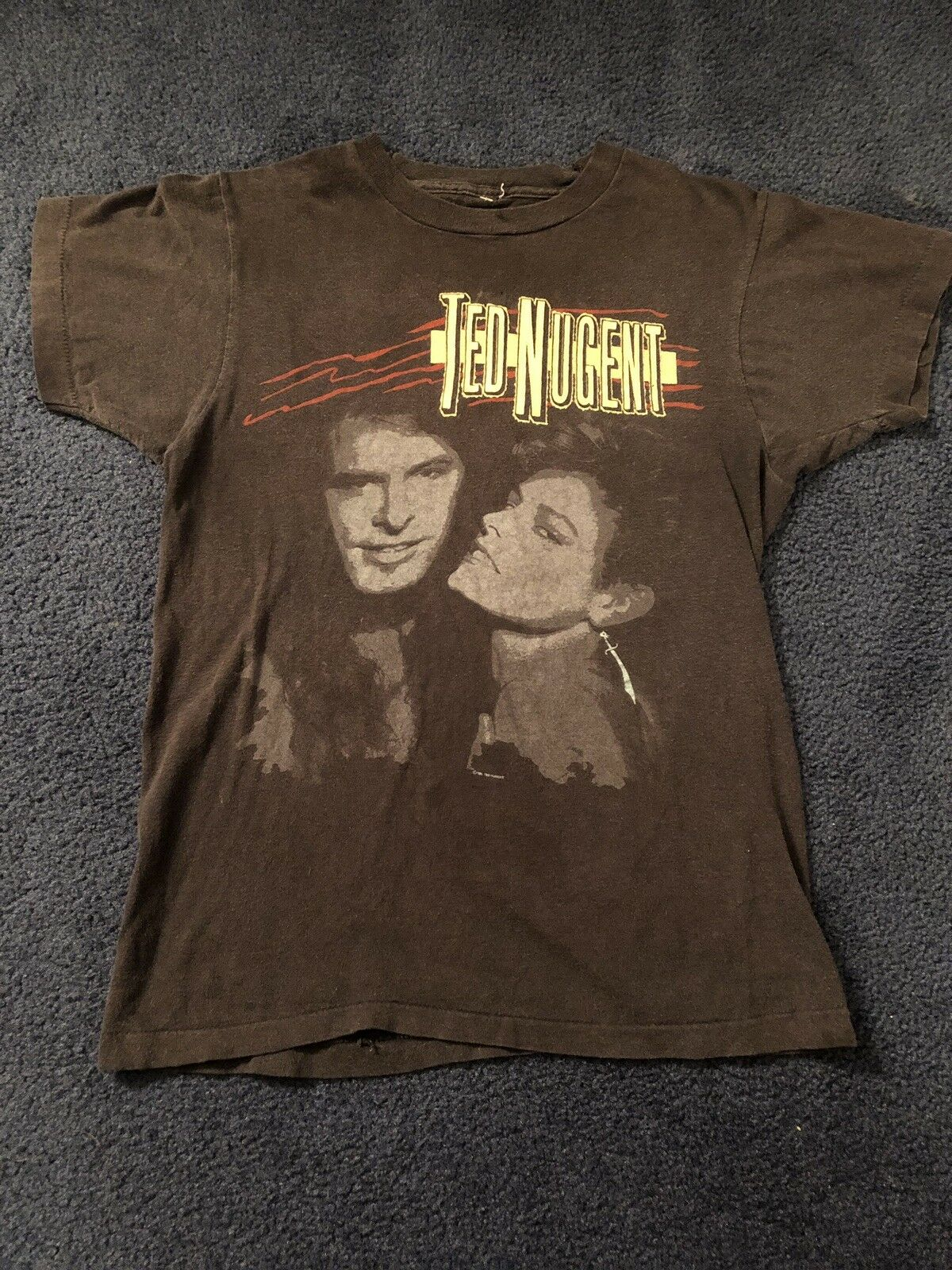 Vintage Ted Nugent Little Miss Dangerass Tour Shirt 1986