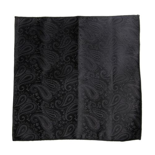 Hot Men Satin Solid Floral Pocket Square Handkerchief Paisley Party Floral Hanky