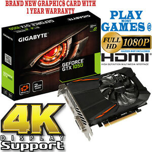 Gigabyte-GeForce-GTX-1050-2GB-GDDR-5-HDMI-Nvidia-Tarjeta-Grafica-de-Juegos-Soporte-4K