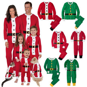 Christmas-Family-Matching-Pyjamas-PJS-Set-Xmas-Santa-Sleepwear-Nightwear-Gift-UK