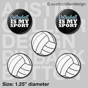 5-VOLLEYBALL-1-25-034-pinback-buttons-badges-beach-team-gift-pins